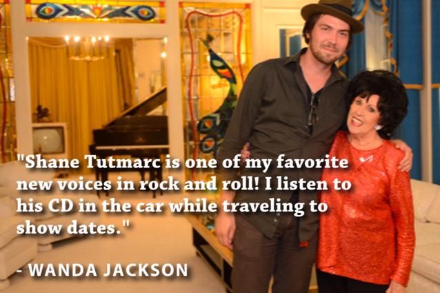 Shane Tutmarc with Wanda Jackson